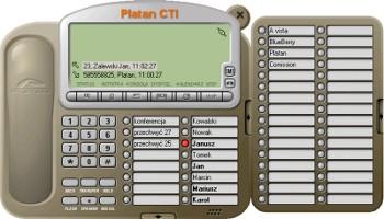 Platan CTI - informacje o dzwoniącym, przyciski skróconego wybierania, historia połączeń