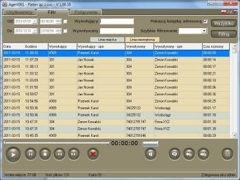 Aplikacja Agent 001 - zarządzanie rozmowami nagranymi w Primie nano